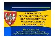 Regionalny Program Operacyjny dla Województwa Wielkopolskiego ...
