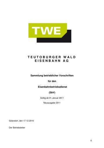 Meldung über Mängel an der TWE - Strecke - Captrain Deutschland ...