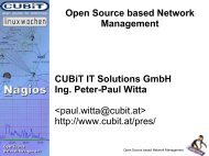 Open Source based Network Management Cubit IT Solutions ...