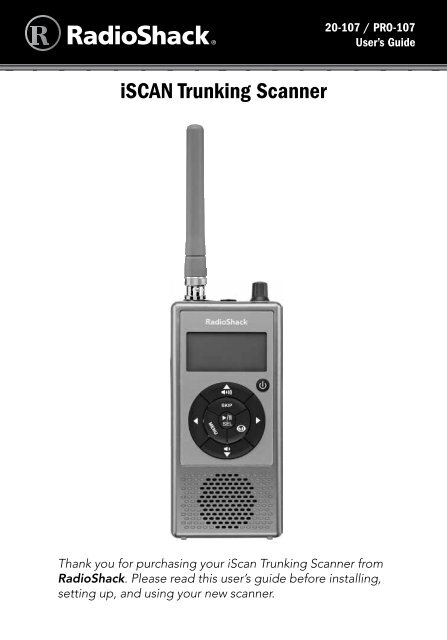 iSCAN Trunking Scanner - Radio Shack