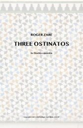 Zare - Three Ostinatos for adaptable band