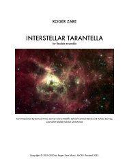 Zare - Interstellar Tarantella flex version Full Score