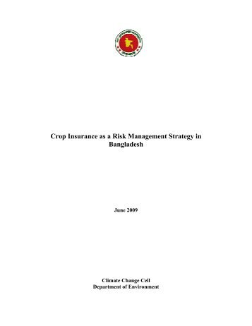 Crop Insurance as a Risk Management Strategy in Bangladesh