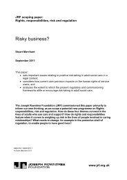 Risky business? - Joseph Rowntree Foundation