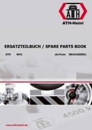 ATH-Heinl ERSATZTEILBUCH SPARE PARTS BOOK W42