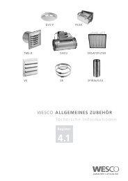 ALLGEMEINES ZUBEHÖR Technische Informationen 4.1 ... - Wesco