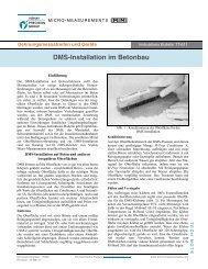 DMS-Installation im Betonbau Instruktions Bulletin TT-611