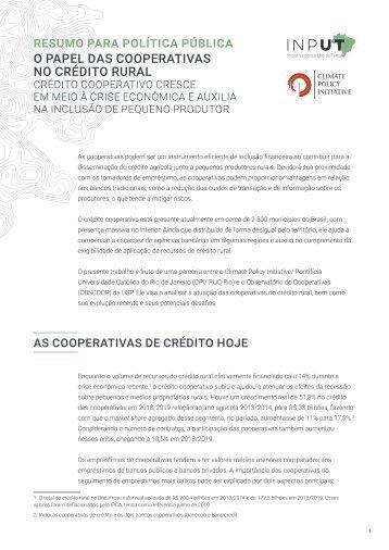 O Papel das Cooperativas no Crédito Rural