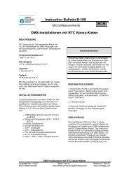 Instruction BulletinB-189 DMS-Installationen mit RTC Epoxy-Kleber