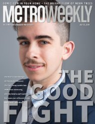 Chase Strangio: The Good Fight - Metro Weekly - July 23, 2020