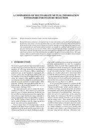 a comparison of multivariate mutual information estimators for ...