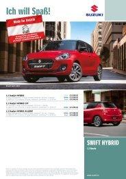 SWIFT HYBRID Preise, Ausstattung und technische Daten