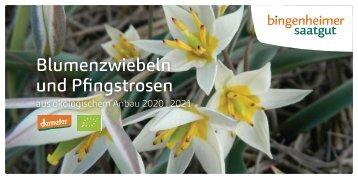 Bingenheimer Saatgut - Blumenzwiebeln und Pfingstrosen 2020