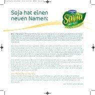 Soja hat einen neuen Namen: - bei Danone