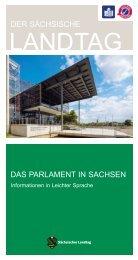 Der Sächsische Landtag in Leichter Sprache
