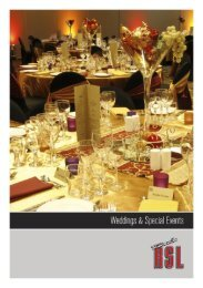 townsville rsl – wedding and special events packages 1