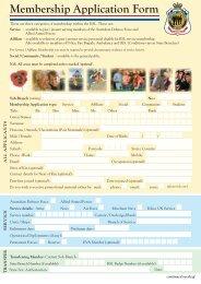 Membership Application Form - RSL
