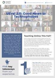 UEval 2.0 Good News to Technophobes