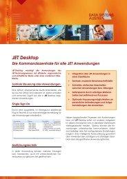 JET Desktop Die Kommandozentrale für alle ... - Data Systems Austria