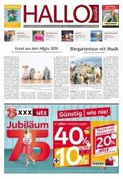 Hallo-Allgäu  vom Samstag, 25.Juli