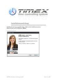 Installationsanleitung - DATEEX information technology Gmbh
