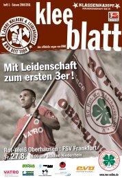 Mit Leidenschaft zum ersten 3er! - SC Rot-Weiß Oberhausen eV