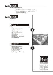 DATA DATA BETON BETON - DATA SYSTEMS
