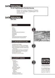 für die Projektbezogene Stundenerfassung kann ... - DATA SYSTEMS