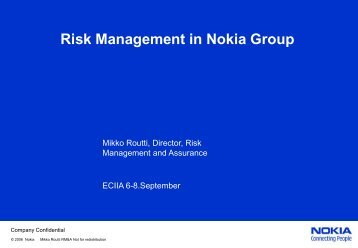 Risk Management in Nokia Group - ECIIA