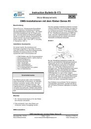 Instruction BulletinB-173 DMS-Installationen mit dem Kleber Denex #3