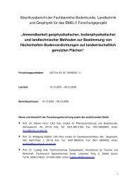 Abschlussbericht der Fachbereiche Bodenkunde, Landtechnik ... - BLE