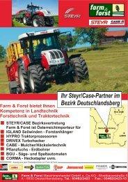 Ihr Steyr/Case-Partner im Bezirk Deutschlandsberg - Farm & Forst