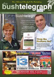 HORNSBY RSL CLUB - The Bush Telegraph Weekly