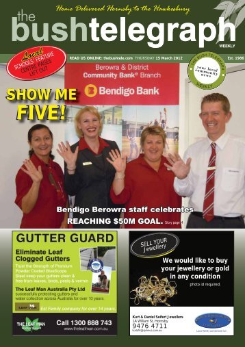 SHOW ME FIVE! - The Bush Telegraph Weekly