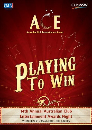 download event program - ACE Awards
