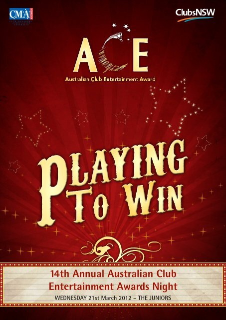 download event program - ACE Awards