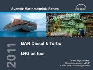 LNG As Fuel - Svenskt Marintekniskt Forum