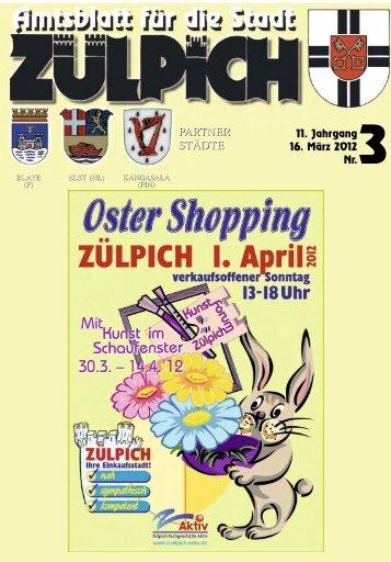 Oster Shopping 1. April 2012 Verkaufsoffener ... - Stadt Zülpich