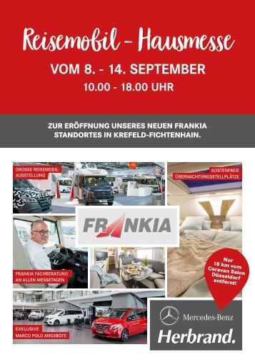 FRANKIA Reisemobil-Hausmesse vom 08. - 14. September bei Herbrand.