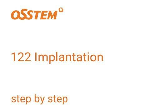 OSSTEM 122 Taper KIT Bohrprotokoll und Parameter der Implantation