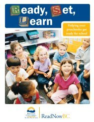 RSL Booklet 2009 - Helping your preschooler get ... - Early Learning