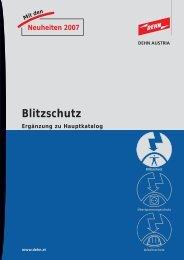Mitden Neuheiten 2007 Blitzschutz Ergänzung zu ... - Dehn Austria