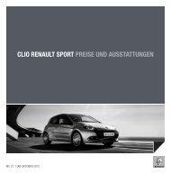 CLIO RENAULT SPORT PREISE UND AUSSTATTUNGEN
