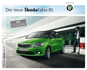 Der neue ŠkodaFabia RS - Motorline.cc