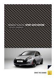 renault clio r.s. sport auto edition