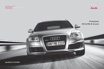 Preisliste RS 6/RS 6 Avant quattro GmbH - Auto Motor und Sport