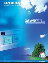 AP-370 Series product literature - Horiba