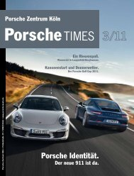 Porsche Identität. - Porsche Zentrum Olympiapark