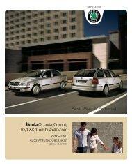 Škoda Octavia/Combi/ RS/L&K/Combi 4x4/Scout - Swissmotor
