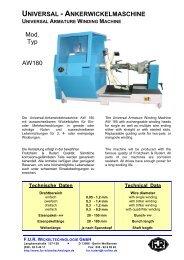 ankerwickelmaschine universal armature winding machine - F.U.R. ...